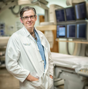 Dan Brown, M.D., is leading a national research registry that tracks cancer patients whose tumors are treated with a certain radioactive isotope. (photo by John Russell)