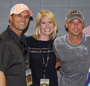 Kevin and Stacy Brown with Kenny Chesney