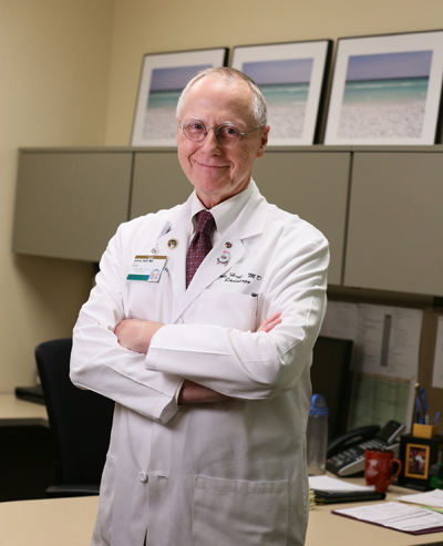 John Huff, M.D., is chief of the Section of Breast Imaging, medical director of Breast Imaging Services and imaging director of the Vanderbilt Breast Clinic. (photo by Anne Rayner)