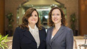 Lora Harnack and Pamela Hull